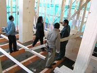 上棟と建て方検査の様子