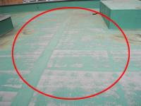 屋上面の防水の劣化
