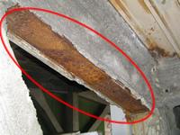 主要構造部の耐火被覆の剥離(はくり)